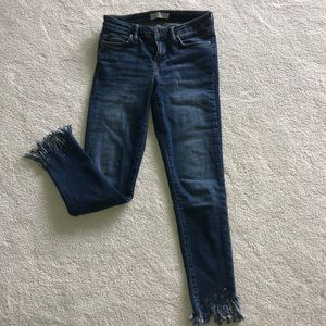 ZARA fringe bottom jeans